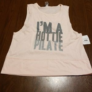 Champion I'm a Hottie Pilate workout tee NWT AS